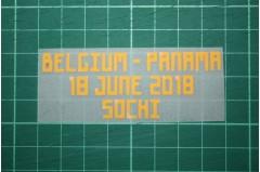 BELGIUM World Cup 2018 Home Shirt Match Details BELGIUM Vs PANAMA