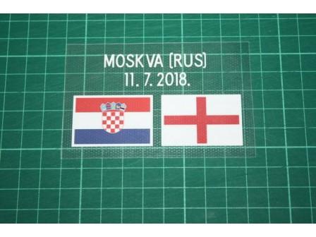 CROATIA World Cup 2018 Away Shirt Match Details CROATIA Vs ENGLAND