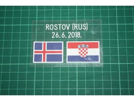 CROATIA World Cup 2018 Away Shirt Match Details ICELAND Vs CROATIA