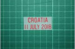 ENGLAND World Cup 2018 Home Shirt Match Details ENGLAND Vs CROATIA