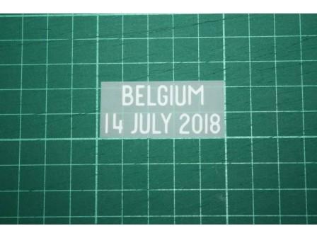 ENGLAND World Cup 2018 Home Shirt Match Details BELGIUM Vs ENGLAND