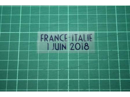 FRANCE Friendly Match 2018 Away Shirt Match Details ITALIE Vs FRANCE