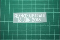 FRANCE World Cup 2018 Home Shirt Match Details FRANCE Vs AUSTRALIE
