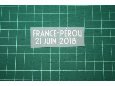 FRANCE World Cup 2018 Home Shirt Match Details FRANCE Vs PÉROU
