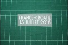 FRANCE World Cup 2018 Home Shirt Match Details FRANCE Vs CROATIE