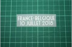 FRANCE World Cup 2018 Home Shirt Match Details FRANCE Vs BELGIQUE