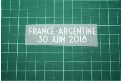 FRANCE World Cup 2018 Home Shirt Match Details FRANCE Vs ARGENTINE