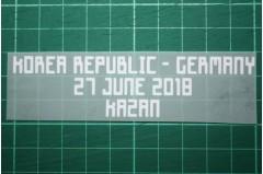 GERMANY World Cup 2018 Away Shirt Match Details KOREA REPUBLIC Vs GERMANY
