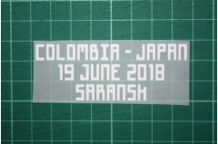 JAPAN World Cup 2018 Home Shirt Match Details COLOMBIA Vs JAPAN