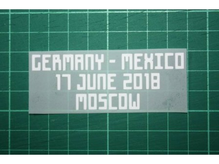 MEXICO World Cup 2018 Home Shirt Match Details GERMANY Vs MEXICO