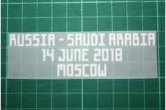 RUSSIA World Cup 2018 Home Shirt Match Details RUSSIA Vs SAUDI ARABIA