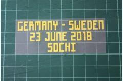 SWEDEN World Cup 2018 Home Shirt Match Details GERMANY Vs SWEDEN