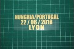 PORTUGAL EURO 2016 Away Shirt Match Details HUNGRIA Vs PORTUGAL