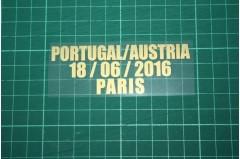 PORTUGAL EURO 2016 Home Shirt Match Details PORTUGAL Vs AUSTRIA