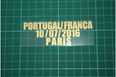 PORTUGAL EURO 2016 Home Shirt Match Details PORTUGAL Vs FRANÇA