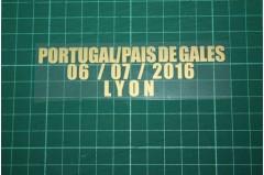 PORTUGAL EURO 2016 Away Shirt Match Details PORTUGAL Vs PAIS DE GALES