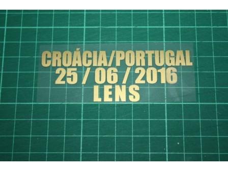 PORTUGAL EURO 2016 Away Shirt Match Details CROÁCIA Vs PORTUGAL