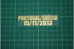 PORTUGAL World Cup play-off first-leg match 2013 Home Shirt Match Details PORTUGAL Vs SUÉCIA