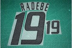 South Africa 02/04 #19 RADEBE Homekit / Awaykit Nameset Printing