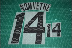 South Africa 02/04 #14 NOMVETHE Homekit / Awaykit Nameset Printing