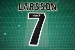 Celtic 99/04 #7 LARSSON Homekit / Awaykit Nameset Printing