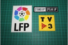 SPANISH LEAGUE LFP TV3 and STAND UP SPEAK UP BADGES 2004-2005