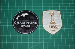 2008-2009 UEFA CHAMPIONS LEAGUE WINNER and FIFA CUP WORLD CUP BADGES