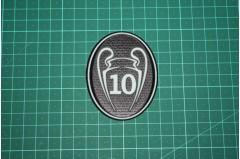 UEFA CHAMPIONS LEAGUE 10 TIMES TROPHY BADGE 2013-Present