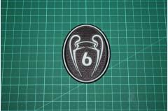 UEFA CHAMPIONS LEAGUE 6 TIMES TROPHY BADGE 2013-Present